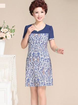 Váy đầm trung niên cao cấp TNVDFM0008