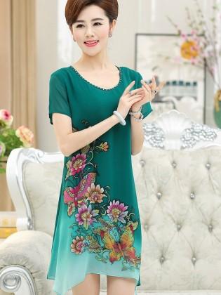 Váy suông trung niên TNVDDY0004