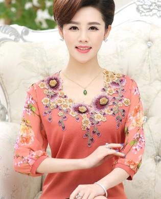 Áo len trung niên Hàn Quốc cao cấp TA304