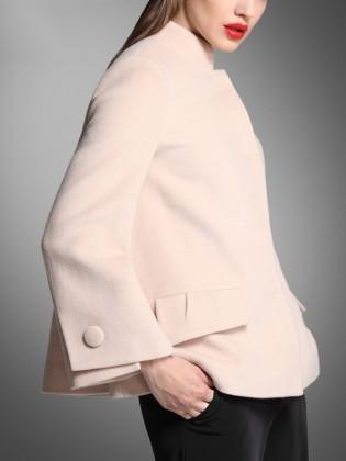 Áo khoác dạ ngắn dáng xòe tay phối cúc tròn đẹp TA420