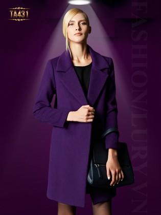 Áo khoác dạ ép Hàn Quốc form đứng đẹp 2 cúc thời trang TA431