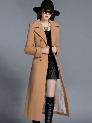 Áo khoác dạ váy dài cổ vest 6 khuy tròn cao cấp TA433