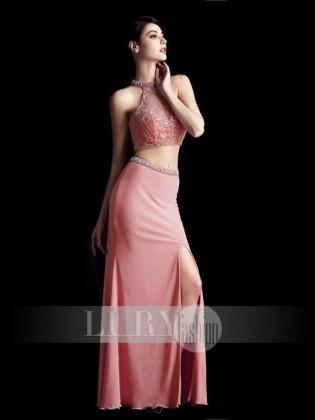 Đầm dạ tiệc hồng phối ren quyến rũ TV677