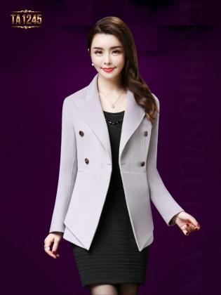 Áo dạ vest dáng ngắn tay khuy thời trang TA1245 (Ghi đá)