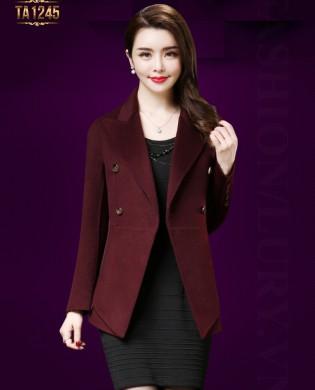 Áo dạ vest dáng ngắn tay khuy thời trang TA1245 (Màu đỏ)